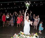 Lauren's tosses the bouquet.