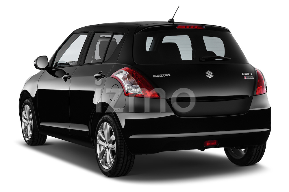 Car pictures of rear three quarter view of a 2013 Suzuki SWIFT Grand Luxe @ttraction 5 Door Hatchback 2WD Angular Rear