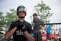 Chris Froome (GBR/SKY) ready to roll<br /> <br /> stage 1 prologue: Utrecht (13.8km)<br /> Tour de France 2015