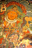 Closeup of artwork painting in Potala Palace in the city of Lhasa Tibet China