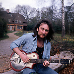 Deep Purple 1975 Roger Glover at his home.<br /> © Chris Walter