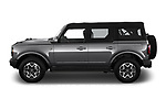 Car Driver side profile view of a 2021 Ford Bronco Outer-Banks 5 Door SUV Side View