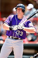May 31, 2009:  Outfielder Nick Weglarz of the Akron Aeros at bat during a game at Jerry Uht Park in Erie, NY.  The Aeros are the Eastern League Double-A affiliate of the Cleveland Indians.  Photo by:  Mike Janes/Four Seam Images