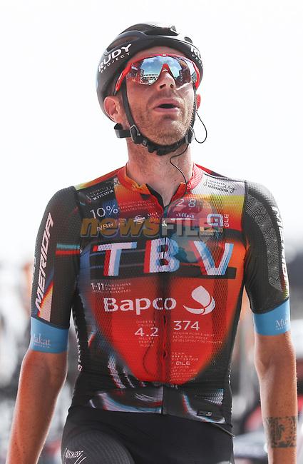 Damiano Caruso (ITA) Bahrain Victorious wins solo Stage 9 of La Vuelta d'Espana 2021, running 188km from Puerto Lumbreras to Alto de Velefique, Spain. 22nd August 2021.     <br /> Picture: Luis Angel Gomez/Photogomezsport | Cyclefile<br /> <br /> All photos usage must carry mandatory copyright credit (© Cyclefile | Luis Angel Gomez/Photogomezsport)