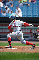 Pawtucket Red Sox outfielder Rusney Castillo (31) at bat during a game against the Syracuse Chiefs on July 6, 2015 at NBT Bank Stadium in Syracuse, New York.  Syracuse defeated Pawtucket 3-2.  (Mike Janes/Four Seam Images)