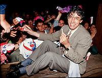 1994, Umberto Bossi, comizio a Como