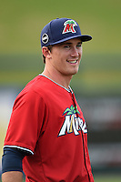 Fort Myers Miracle Logan Wade (4) during a game against the Tampa Yankees on April 15, 2015 at Hammond Stadium in Fort Myers, Florida.  Tampa defeated Fort Myers 3-1 in eleven innings.  (Mike Janes/Four Seam Images)