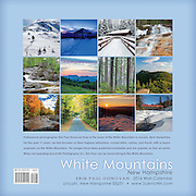 Back cover of the 2016 White Mountains, New Hampshire wall calendar by ScenicNH Photography LLC | Erin Paul Donovan. The calendar can be purchased here: http://bit.ly/17LpoRV