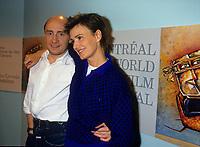 Montreal (Qc) Canada  file Photo -  1987 -- ,Michel Blanc, Miou Miou , at 1987  Montreal World Film Festival