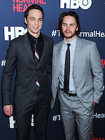 """NEW YORK CITY, NY, USA - MAY 12: Jim Parsons, Taylor Kitsch at the New York Screening Of HBO's """"The Normal Heart"""" held at the Ziegfeld Theater on May 12, 2014 in New York City, New York, United States. (Photo by Celebrity Monitor)"""