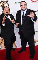 PASADENA, CA, USA - OCTOBER 10: Jorge Gutierrez, Guillermo del Toro arrive at the 2014 NCLR ALMA Awards held at the Pasadena Civic Auditorium on October 10, 2014 in Pasadena, California, United States. (Photo by Celebrity Monitor)