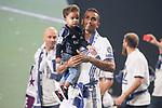 Real Madrid Danilo Luiz Da Silva with son during the celebration of the 13th UEFA Championship at Santiago Bernabeu Stadium in Madrid, June 04, 2017. Spain.<br /> (ALTERPHOTOS/BorjaB.Hojas)