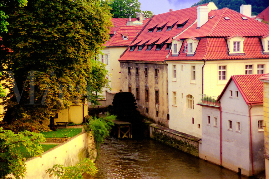 The Devil's Brook as seen from the Charles Bridge in Prague (Czech Republic).