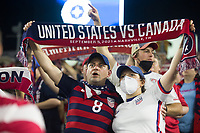 NASHVILLE, TN - SEPTEMBER 5: USA Fans hold a scarf after a game between Canada and USMNT at Nissan Stadium on September 5, 2021 in Nashville, Tennessee.