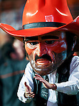 Oklahoma State's mascot, Pistol Pete, during the game between the Oklahoma State Cowboys and the University of Texas in Austin Texas Longhorns at the Daryl K. Royal- Texas Memorial Stadium in Austin, Texas. The Oklahoma State Cowboys defeated the Texas Longhorns 33 to 16.