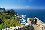 ZAF, Suedafrika, Kapstadt, Kap-Halbinsel Nationalpark: Ausblick auf Cape Point | ZAF, South Africa, Cape Town, Cape Peninsula National Park: viewpoint at Cape Point