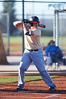 Andrew Rivero (55), from San Jacinto, California, while playing for the Brewers during the Under Armour Baseball Factory Recruiting Classic at Red Mountain Baseball Complex on December 29, 2017 in Mesa, Arizona. (Zachary Lucy/Four Seam Images)