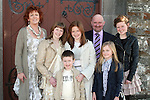 Aideen and Aoife Fay with their family at their Confirmation in Clogherhead Church...Photo NEWSFILE/Jenny Matthews.(Photo credit should read Jenny Matthews/NEWSFILE)....This Picture has been sent you under the condtions enclosed by:.Newsfile Ltd..The Studio,.Millmount Abbey,.Drogheda,.Co Meath..Ireland..Tel: +353(0)41-9871240.Fax: +353(0)41-9871260.GSM: +353(0)86-2500958.email: pictures@newsfile.ie.www.newsfile.ie.FTP: 193.120.102.198.