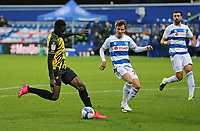 Ismaila Sarr of Watford shot is saved by Seny Dieng of Queens Park Rangers during Queens Park Rangers vs Watford, Sky Bet EFL Championship Football at The Kiyan Prince Foundation Stadium on 21st November 2020