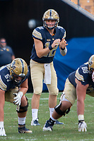 Pitt quarterback Ricky Town. The Pitt Panthers football team defeated the Albany Great Danes 33-7 on September 01, 2018 at Heinz Field, Pittsburgh, Pennsylvania.