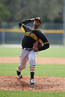 Pittsburgh Pirates pitcher Alex Martinez (43) during an instructional league intrasquad black and gold game on September 23, 2015 at Pirate City in Bradenton, Florida.  (Mike Janes/Four Seam Images)