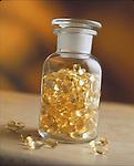 bottle of vitamin E capsules