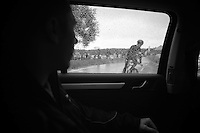 starting a recon ride around the course<br /> <br /> Tour of Britain<br /> stage 3: ITT Knowsley Safari Park (16.1km)
