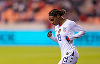 HOUSTON, TX - JANUARY 31: Crystal Dunn #19 of the United States runs onto the field during a game between Panama and USWNT at BBVA Stadium on January 31, 2020 in Houston, Texas.