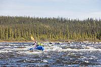 Packrafting the Charley River, Yukon Charley Rivers National Preserve, Alaska.