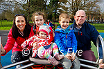 The Carey family enjoying the playground in the Tralee town park on Sunday, l to r: Maura, Aoife, Niamh, Daithi and Pat Carey.