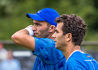 Den Bosch, Netherlands, 13 June, 2017, Tennis, Ricoh Open, Men's doubles, Jean-Julien Rojer (NED) / Horia Tecau (ROU) (L)<br /> Photo: Henk Koster/tennisimages.com