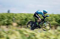 Hugo Houle (CAN/Astana-Premier Tech)<br /> <br /> Stage 20 (ITT) from Libourne to Saint-Émilion (30.8km)<br /> 108th Tour de France 2021 (2.UWT)<br /> <br /> ©kramon