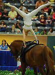 8 October 2010: Antje Hill (GER) performs during the Vaulting Techincals in the World Equestrian Games in Lexington, Kentucky