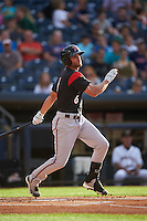 Richmond Flying Squirrels right fielder Hunter Cole (6) at bat during a game against the Akron RubberDucks on July 26, 2016 at Canal Park in Akron, Ohio .  Richmond defeated Akron 10-4.  (Mike Janes/Four Seam Images)