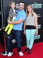 HOLLYWOOD, LOS ANGELES, CA, USA - OCTOBER 06: Joey Fatone, Kloey Alexandra Fatone, Briahna Joely Fatone arrive at the World Premiere Of Disney's 'Alexander And The Terrible, Horrible, No Good, Very Bad Day' held at the El Capitan Theatre on October 6, 2014 in Hollywood, Los Angeles, California, United States. (Photo by Xavier Collin/Celebrity Monitor)