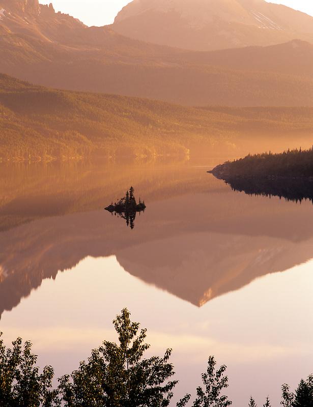 Wild Goose Island. Saint Mary's Lake. Glacier National Park, Montana.