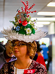 April 13, 2019: Participants in the hat contest at Oaklawn Racing Casino Resort  on April 13, 2019 in Hot Springs, Arkansas. Photo by Carolyn Simancik/Eclipse Sportswire/Cal Sport Media