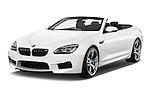 2016 BMW M6 Convertible - 2 Door Convertible Angular Front stock photos of front three quarter view