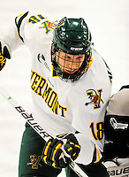 5 February 2011: University of Vermont Catamount forward Ben Albertson, a Sophomore from Williston, VT, in action against the Providence College Friars at Gutterson Fieldhouse in Burlington, Vermont. The Catamounts defeated the Friars 7-1 in the second game of their weekend series. Mandatory Credit: Ed Wolfstein Photo