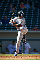 Glendale Desert Dogs outfielder Jacob Scavuzzo (21) at bat during an Arizona Fall League game against the Mesa Solar Sox on October 14, 2015 at Sloan Park in Mesa, Arizona.  Glendale defeated Mesa 7-6.  (Mike Janes/Four Seam Images)