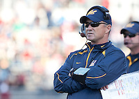 Head Coach Jeff Tedford during the game. The University of California football defeated Washington State University 20-13 at Martin Stadium in Pullman, Washington on November 6th, 2010.