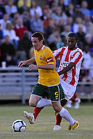 Jack Traynor #5, Yordany Alvarez...AC St Louis were defeated 1-2 by Austin Aztek in their inaugural home game in front of 5,695 fans at Anheuser-Busch Soccer Park, Fenton, Missouri.