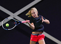 Hilversum, Netherlands, December 3, 2017, Winter Youth Circuit Masters, 12,14,and 16 years, Jinte de Boer (NED)<br /> Photo: Tennisimages/Henk Koster