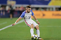 Arlington, TX - Saturday July 22, 2017: Paul Arriola during a 2017 Gold Cup Semifinal match between the men's national teams of the United States (USA) and Costa Rica (CRC) at AT&T stadium.