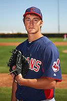 Cleveland Indians minor league pitcher Dylan Baker #40 poses for a photo before an instructional league game against the Cincinnati Reds at the Goodyear Training Complex on October 8, 2012 in Goodyear, Arizona.  (Mike Janes/Four Seam Images)