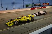 #22: Simon Pagenaud, Team Penske Chevrolet and #15: Graham Rahal, Rahal Letterman Lanigan Racing Honda