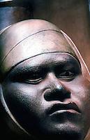 World Civilization:  Moche Culture--Clay Jar Portrait, circa A.D. 400.  NATIONAL GEOGRAPHIC, June 1990.