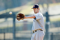 Kent State Golden Flashes starting pitcher Tyler Skulina (31) in action against the Center fielder at Robert and Mariam Hayes Stadium on March 8, 2013 in Charlotte, North Carolina.  The 49ers defeated the Golden Flashes 5-4.  (Brian Westerholt/Four Seam Images)