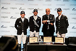 Authorities attend a press conference after the Longines Speed Challenge competition as part of the Longines Hong Kong Masters on 13 February 2015, at the Asia World Expo, outskirts Hong Kong, China. Photo by Li Man Yuen / Power Sport Images