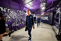 ORLANDO, FL - NOVEMBER 15: Alfredo Morales #15 of the United States walks through the tunnel out to the field during a game between Canada and USMNT at Exploria Stadium on November 15, 2019 in Orlando, Florida.